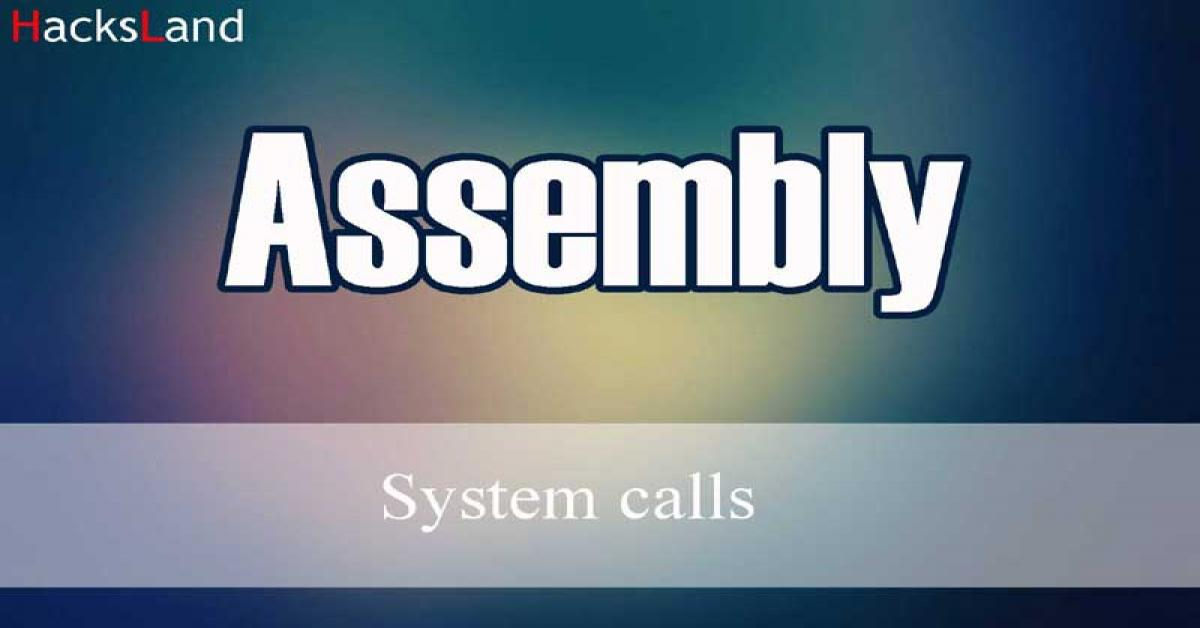 Assembly system calls