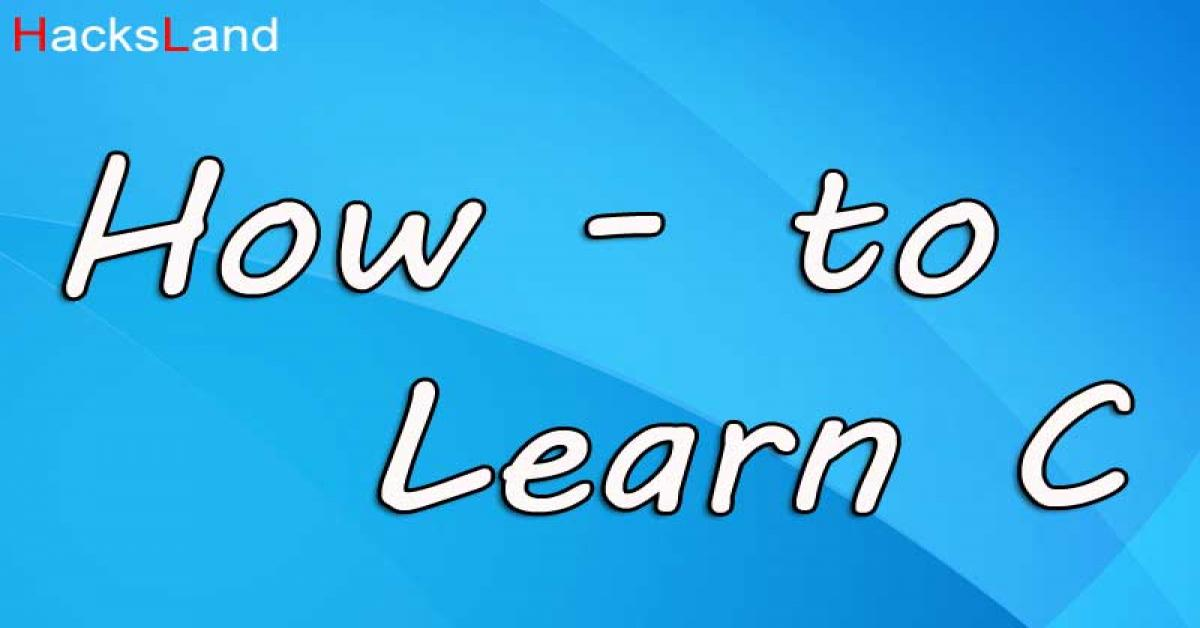 How to learn C