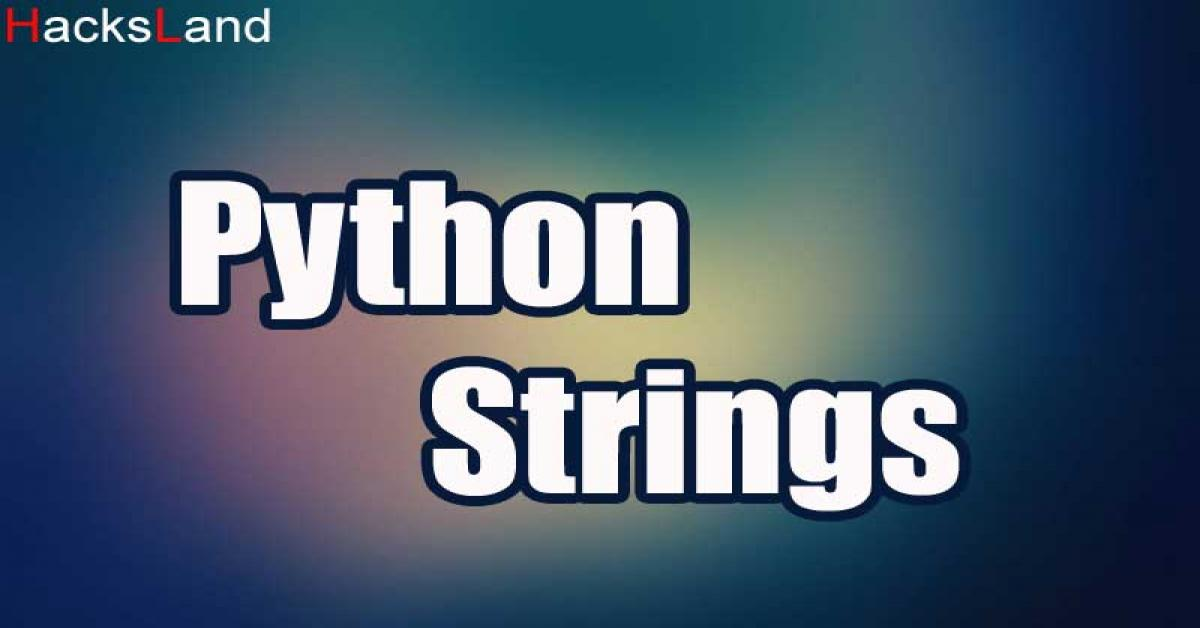 Playing with Strings | Python programming